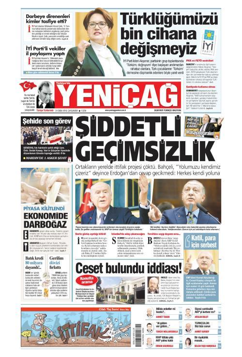 Türkiye'de Yeni Çağ - 24 Ekim 2018