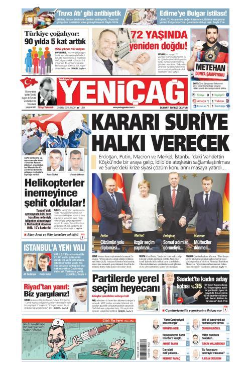Türkiye'de Yeni Çağ - 28 Ekim 2018