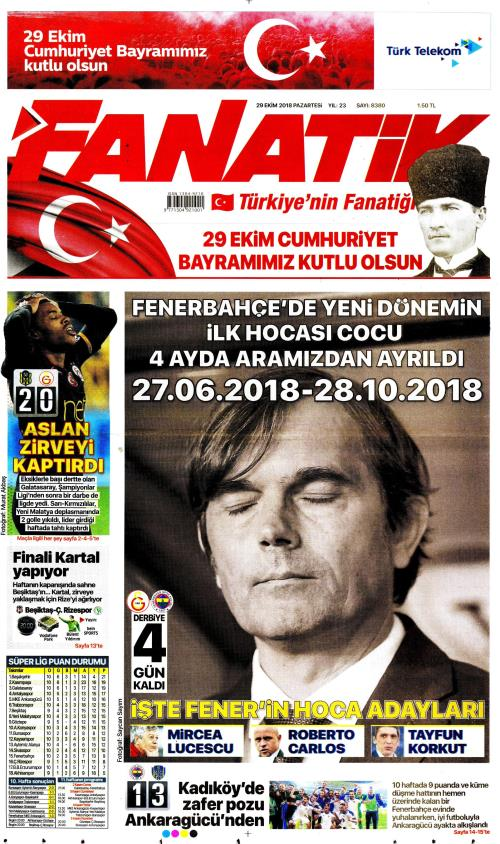 FANATİK - 29 Ekim 2018