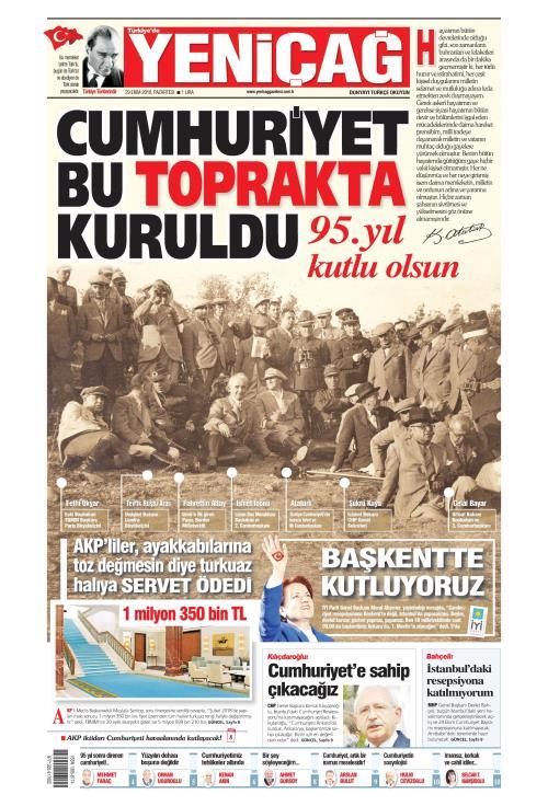 Türkiye'de Yeni Çağ - 29 Ekim 2018