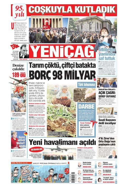 Türkiye'de Yeni Çağ - 30 Ekim 2018