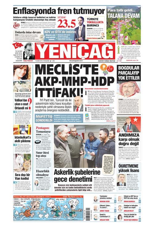 Türkiye'de Yeni Çağ - 01 Kasım 2018