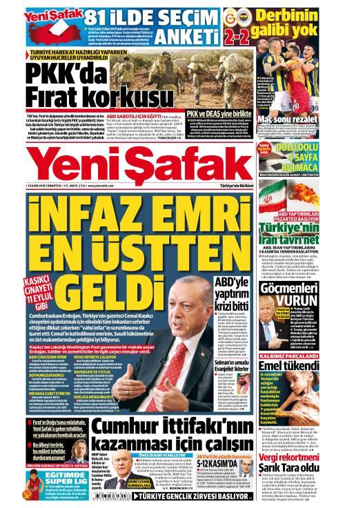 YENİ ŞAFAK - 03 Kasım 2018
