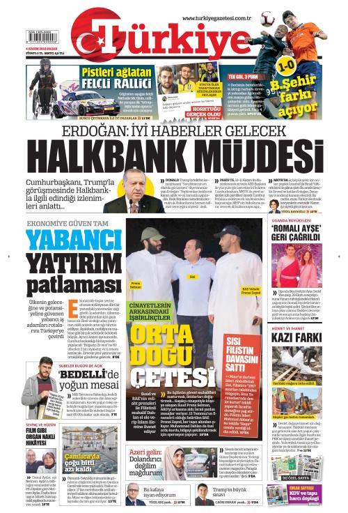 TÜRKİYE - 04 Kasım 2018