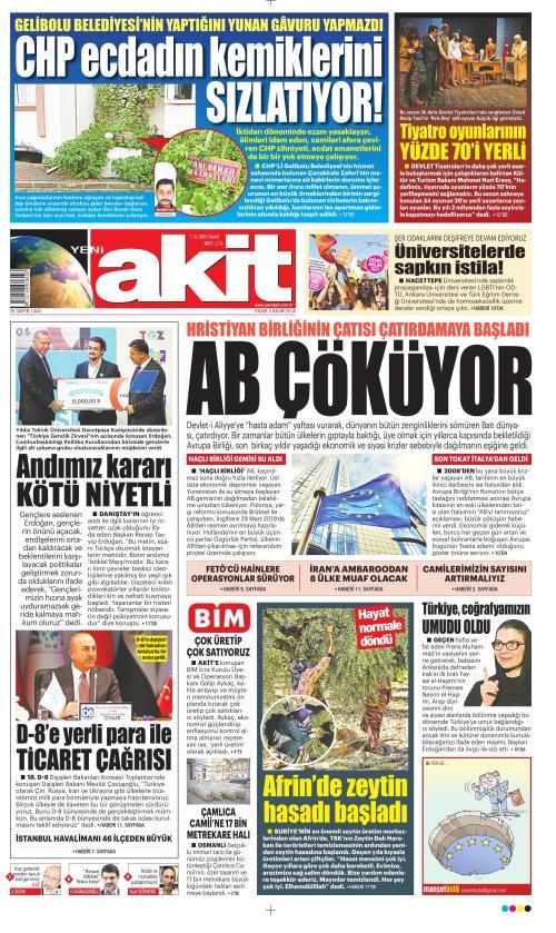 YENİ AKİT - 04 Kasım 2018
