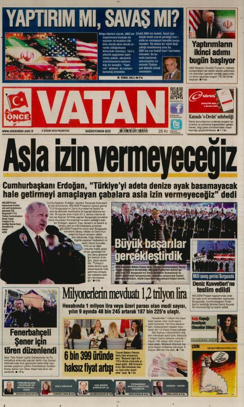 ÖNCE VATAN - 05 Kasım 2018