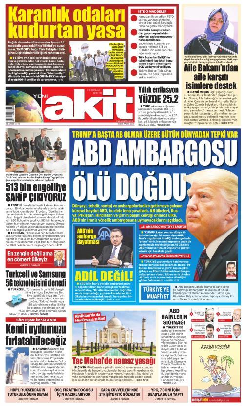 YENİ AKİT - 06 Kasım 2018