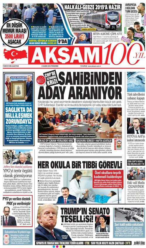 AKŞAM - 08 Kasım 2018