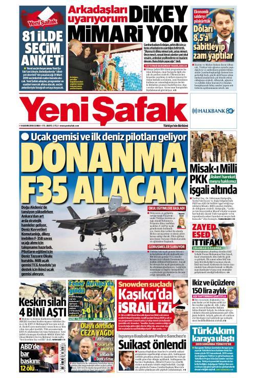 YENİ ŞAFAK - 09 Kasım 2018