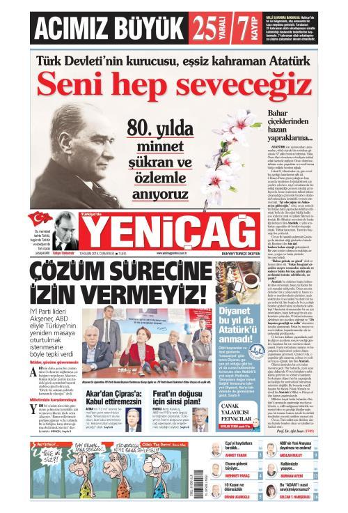 Türkiye'de Yeni Çağ - 10 Kasım 2018