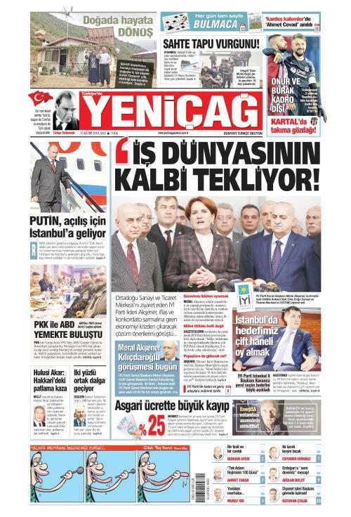 Türkiye'de Yeni Çağ - 13 Kasım 2018
