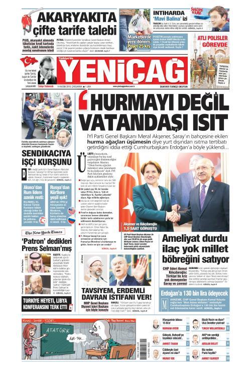 Türkiye'de Yeni Çağ - 14 Kasım 2018