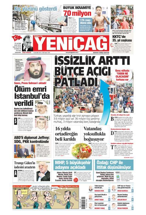 Türkiye'de Yeni Çağ - 16 Kasım 2018