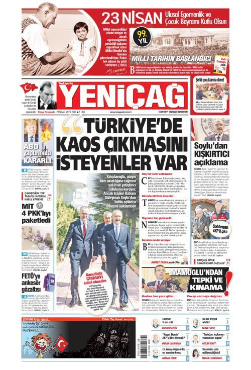 Türkiye'de Yeni Çağ - 23 Nisan 2019