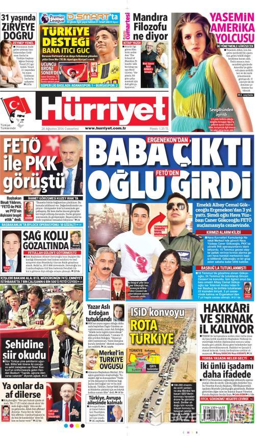 3c6fb246c40ed Hürriyet gazetesi oku - Gazete Manşet - GZT   GZT