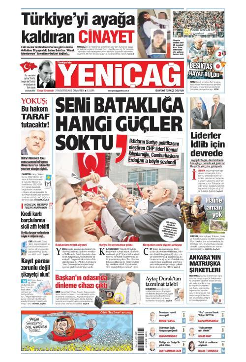 Türkiye'de Yeni Çağ - 24 Ağustos 2019