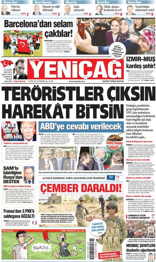 Türkiye'de Yeni Çağ - 17 Ekim 2019