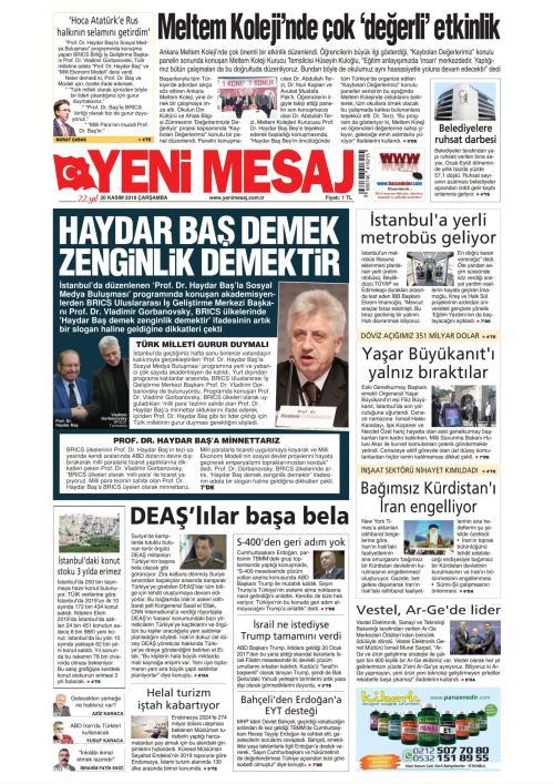 YENİ MESAJ - 20 Kasım 2019