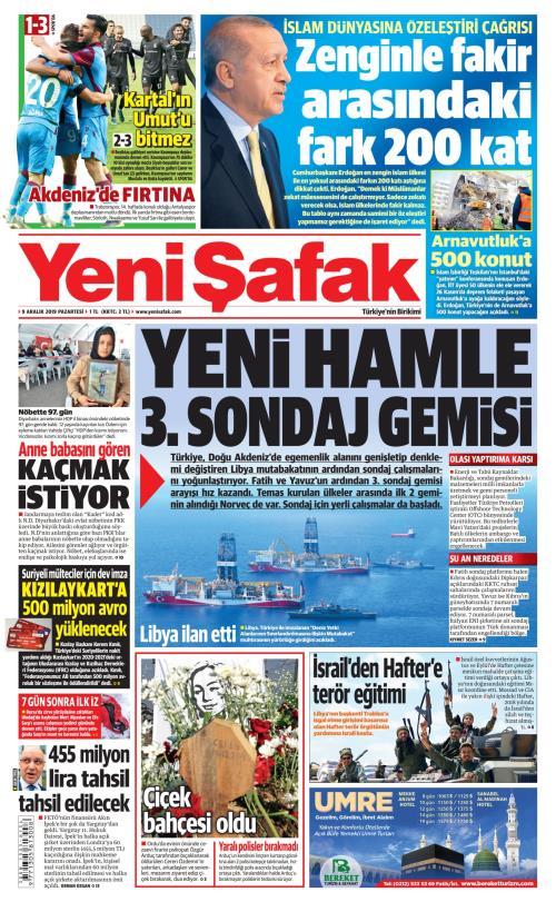 YENİ ŞAFAK - 09 Aralık 2019