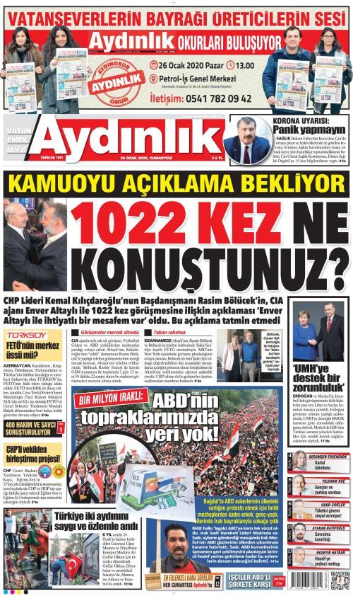 AYDINLIK - 25 Ocak 2020