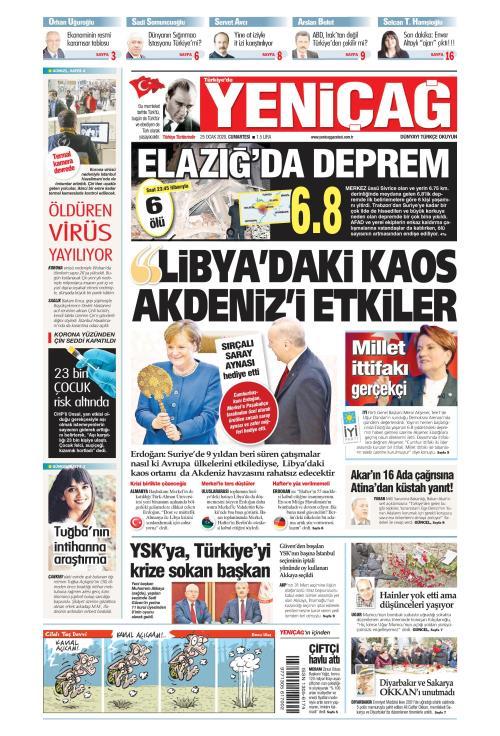 Türkiye'de Yeni Çağ - 25 Ocak 2020