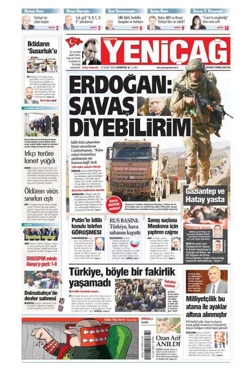 Türkiye'de Yeni Çağ - 22 Şubat 2020