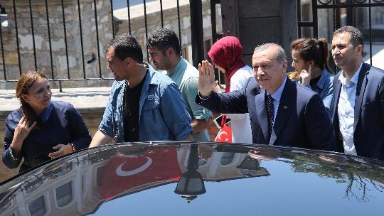 Cumhurbaşkanı Erdoğan Kısıklı'da
