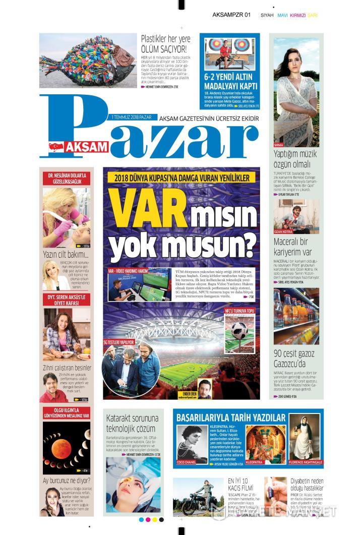 AKŞAM PAZAR - 01 Temmuz 2018