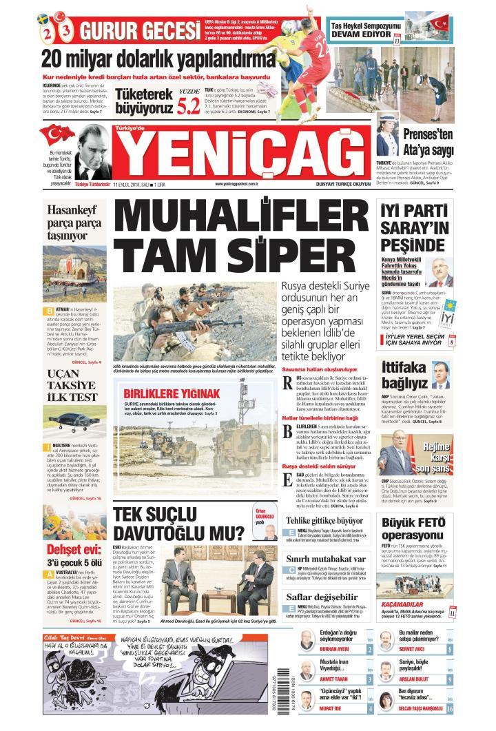 Türkiye'de Yeni Çağ - 11 Eylül 2018