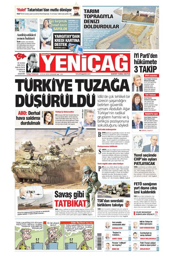 Türkiye'de Yeni Çağ - 12 Eylül 2018