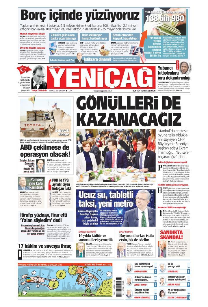 Türkiye'de Yeni Çağ - 11 Ocak 2019
