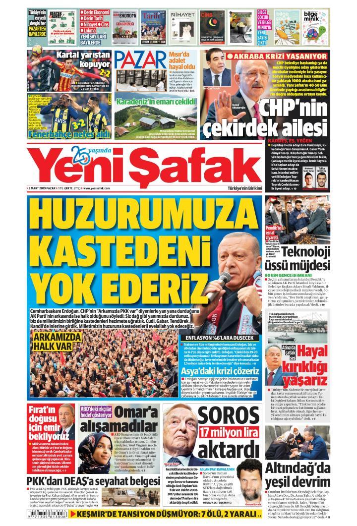 YENİ ŞAFAK - 03 Mart 2019