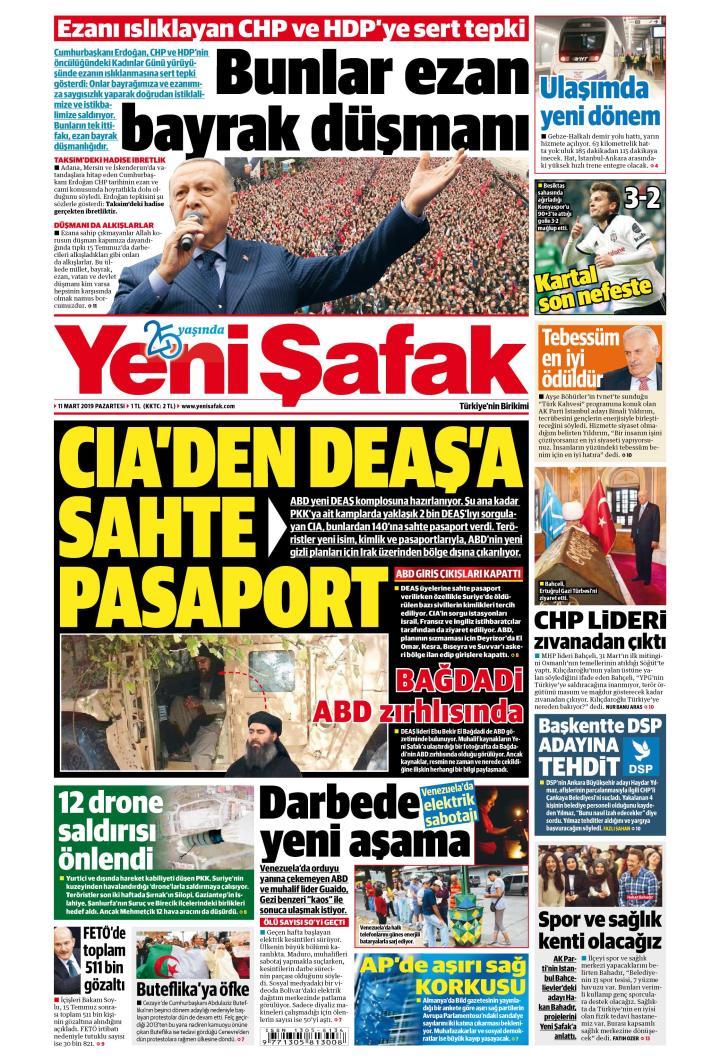 YENİ ŞAFAK - 11 Mart 2019