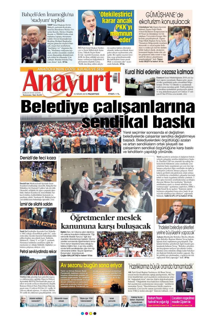ANAYURT - 15 Nisan 2019