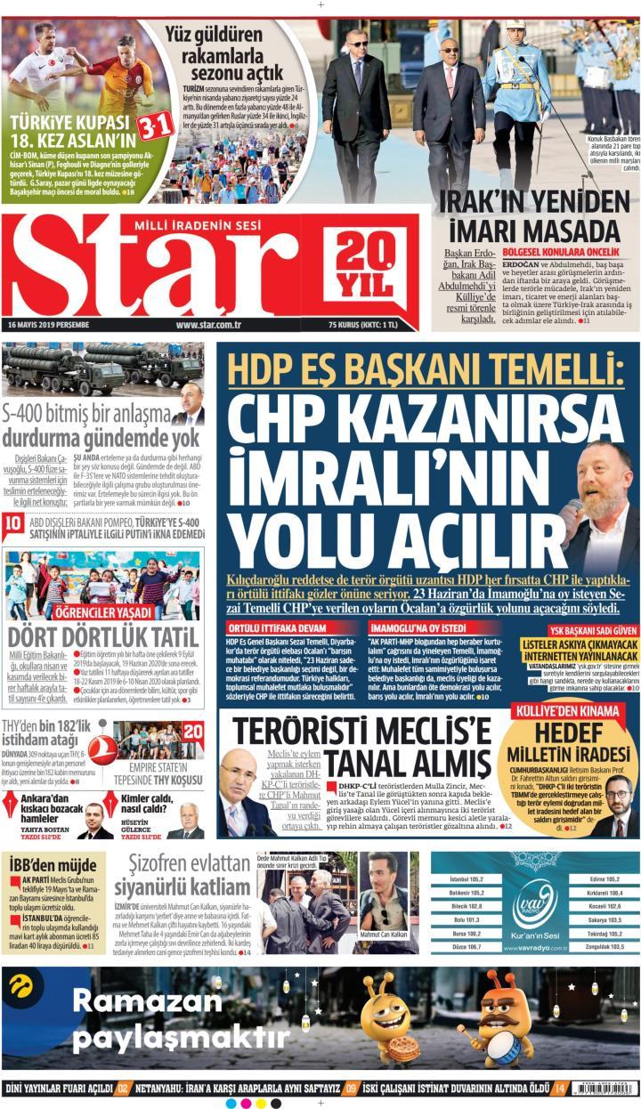 STAR - 16 Mayıs 2019