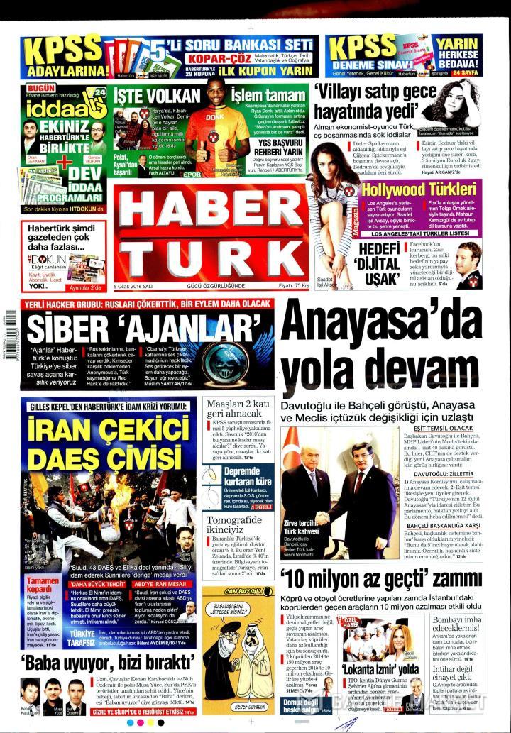 HABERTÜRK İZMİR TAŞRA - 05 Ocak 2016