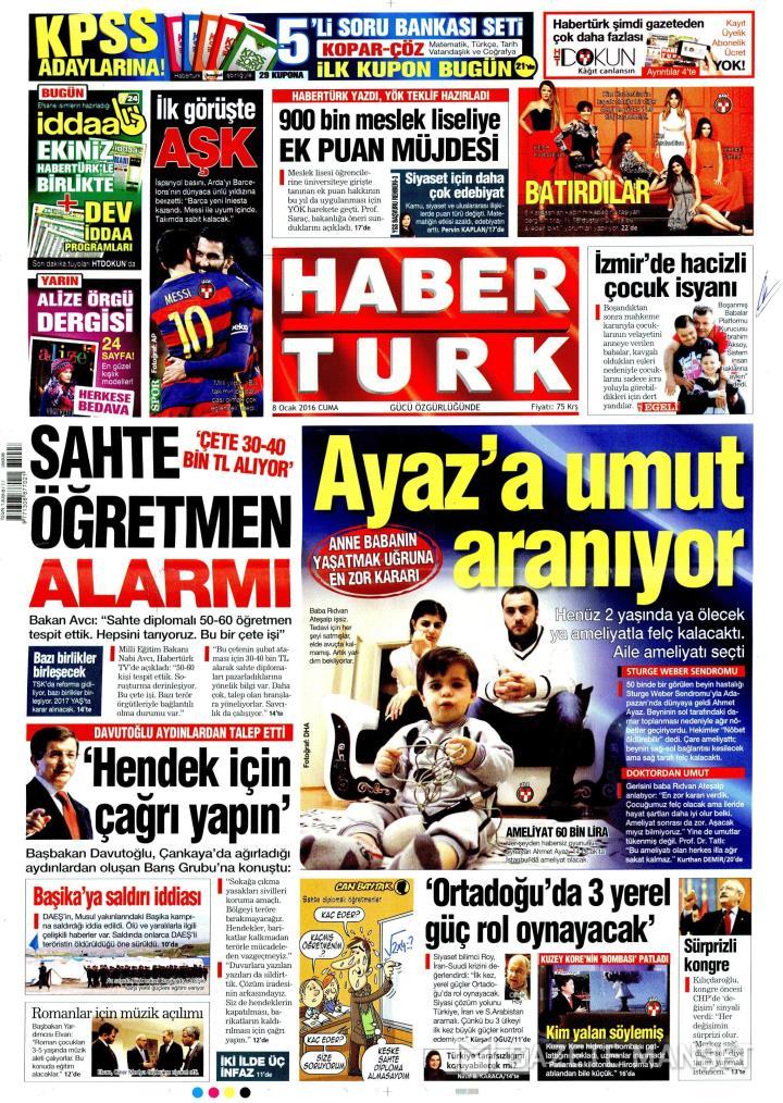HABERTÜRK İZMİR TAŞRA - 08 Ocak 2016