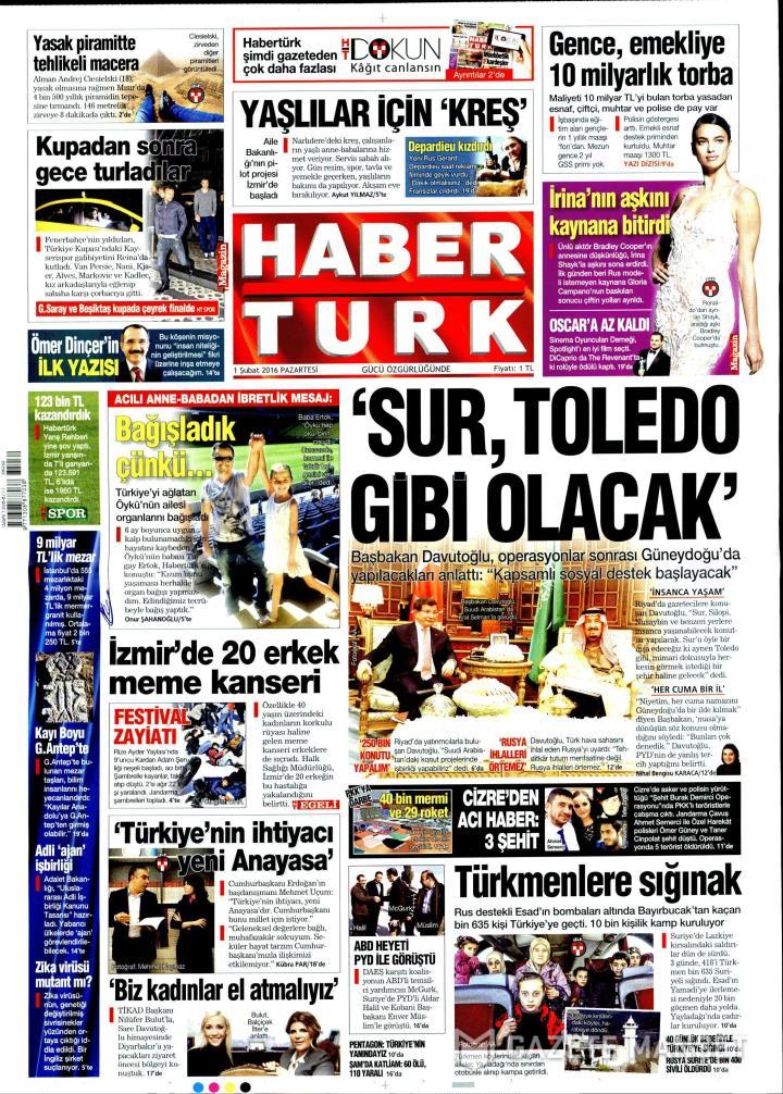 HABERTÜRK İZMİR TAŞRA - 01 Şubat 2016