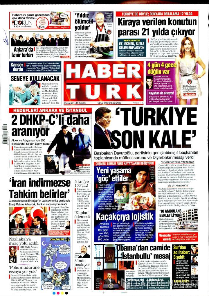 HABERTÜRK İZMİR TAŞRA - 04 Şubat 2016
