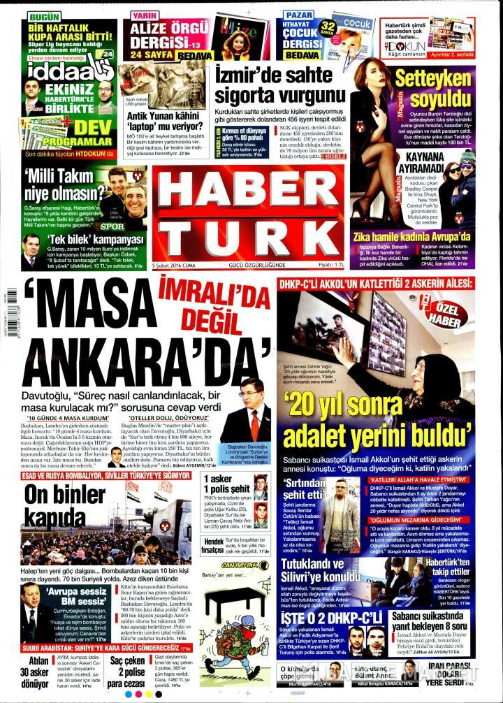 HABERTÜRK İZMİR TAŞRA - 05 Şubat 2016