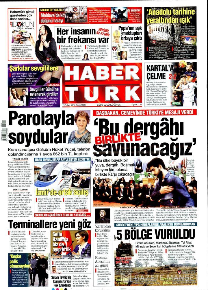 HABERTÜRK İZMİR TAŞRA - 15 Şubat 2016