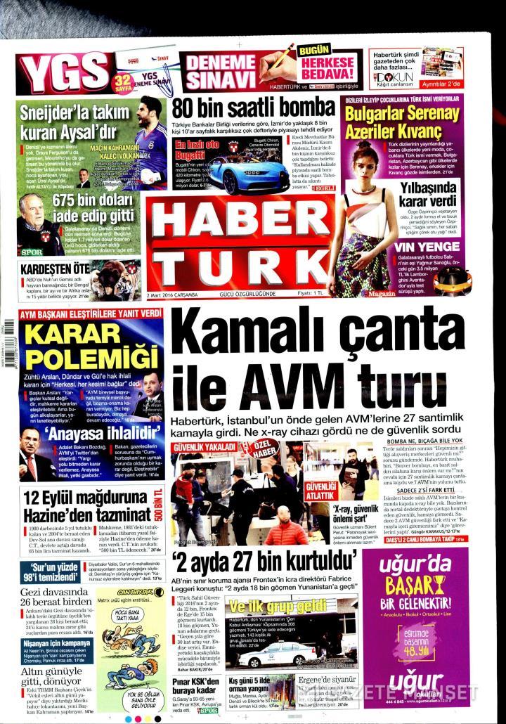 HABERTÜRK İZMİR TAŞRA - 02 Mart 2016