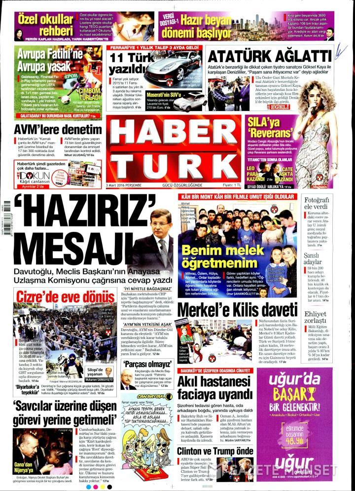 HABERTÜRK İZMİR TAŞRA - 03 Mart 2016