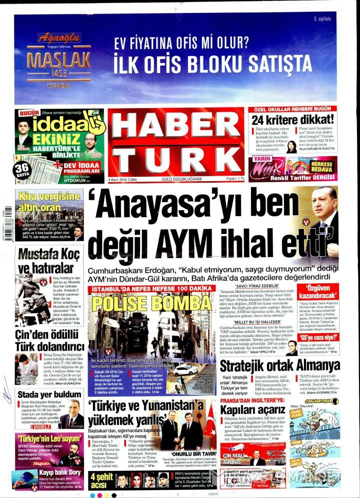 HABERTÜRK İZMİR TAŞRA - 04 Mart 2016