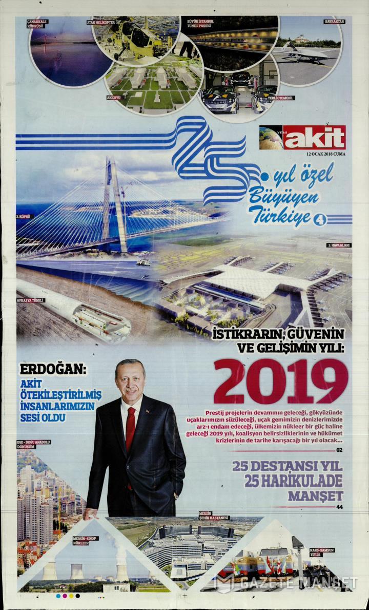 YENİ AKİT EK - 12 Ocak 2018