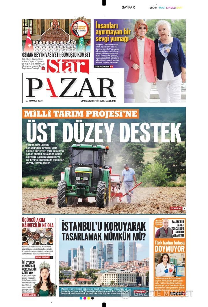 STAR PAZAR - 22 Temmuz 2018
