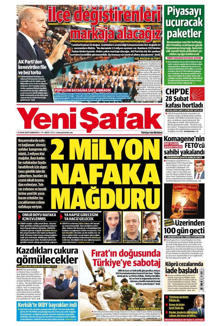 YENİ ŞAFAK - 12 Ocak 2019