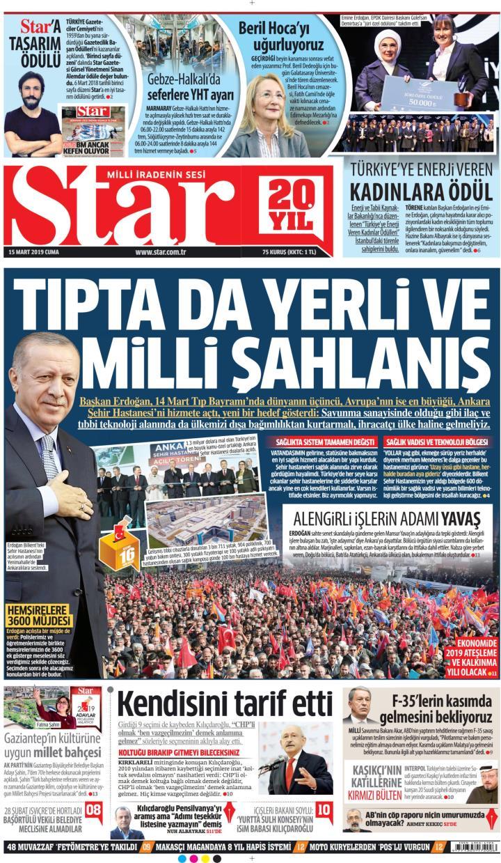 STAR - 15 Mart 2019