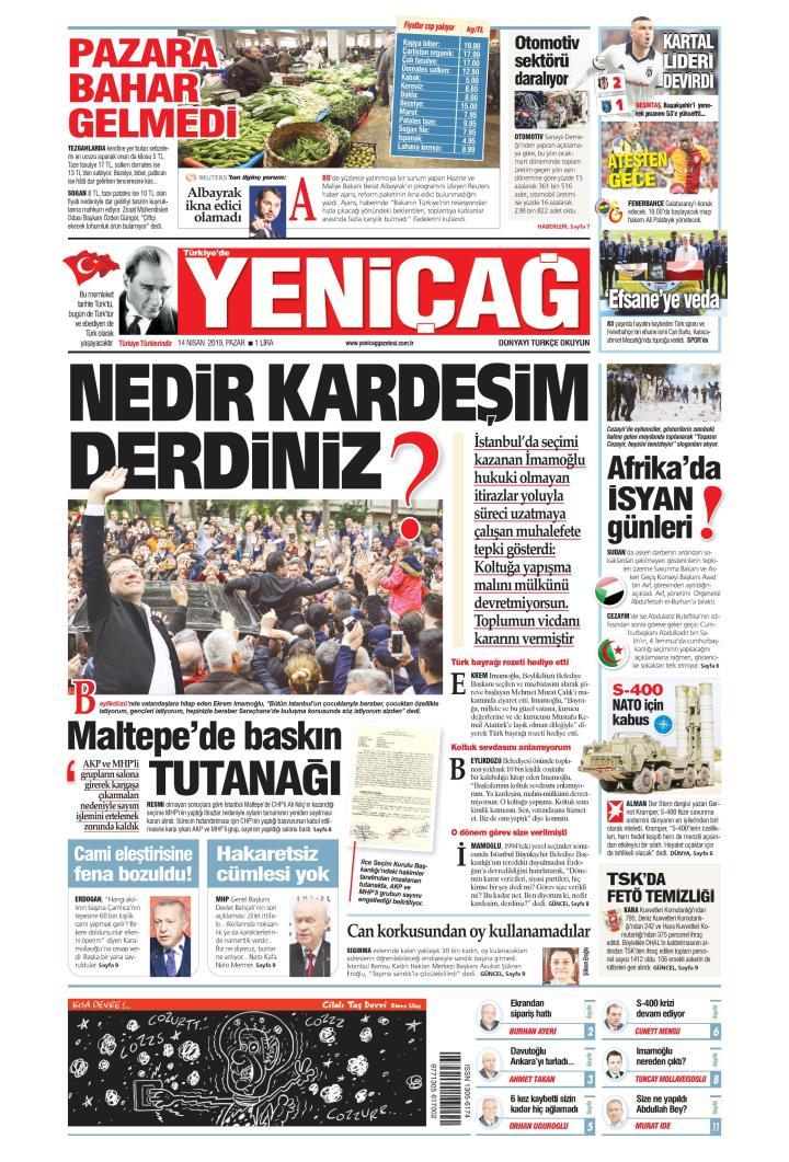 Türkiye'de Yeni Çağ - 14 Nisan 2019