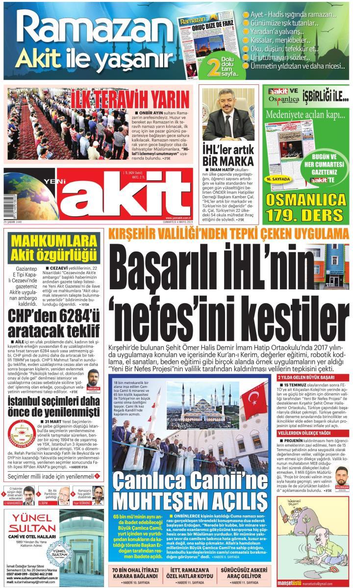 YENİ AKİT - 04 Mayıs 2019